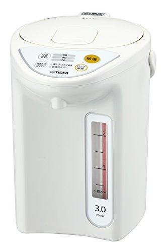 タイガー 魔法瓶 マイコン 電気 ポット 3L ホワイト PDR-G301-W Tiger