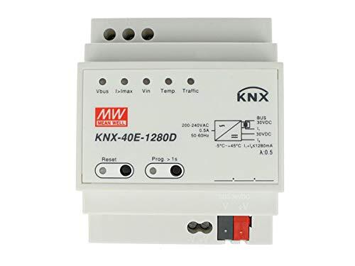 MeanWell KNX-40E-1280D Alimentatore KNX Konnex Con Funzione Diagnosi 30V 1280 mA 38,4W Per Guida DIN Binario