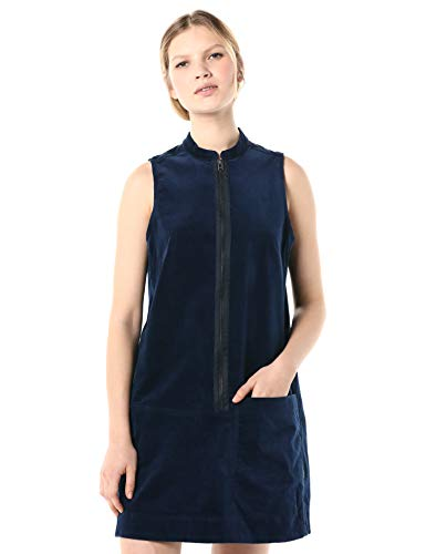 G-STAR RAW Damen Blake Zip Dress wmn Sleeve Less Kleid, Blau (Rinsed 082), X-Large