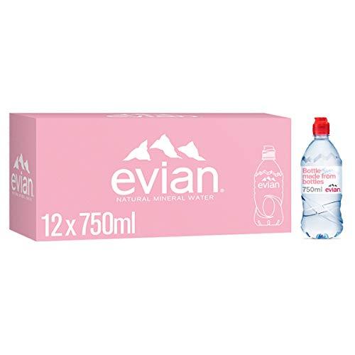 evian Stilmineraalwater, 12 x 750 ml