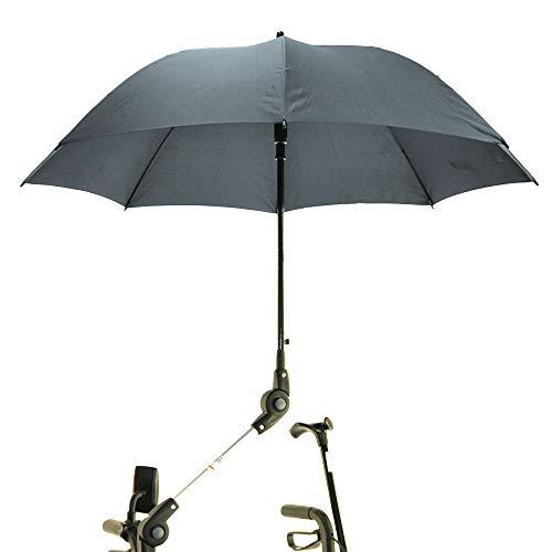 MPB® Rollatorschirm STA 22 mm passend für alle Rollatoren der Krankenkasse sowie Standard Rollatoren, Schirmfarbe grau