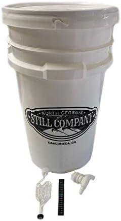 North Georgia Still Company s 7 Gallon Fermentation Bucket with Double Bubbler Spigot Thermometer product image