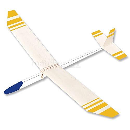 matches21 Segelflieger Flugzeug Segler 68 cm Bausatz f. Kinder Werkset Bastelset ab 11 Jahren