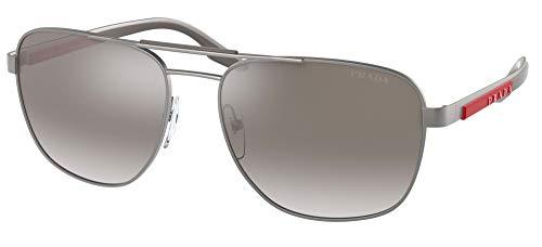 Prada Gafas de Sol Linea Rossa LINEA ROSSA SPS 53X Matte Ruthenium/Grey Shaded 60/17/140 hombre