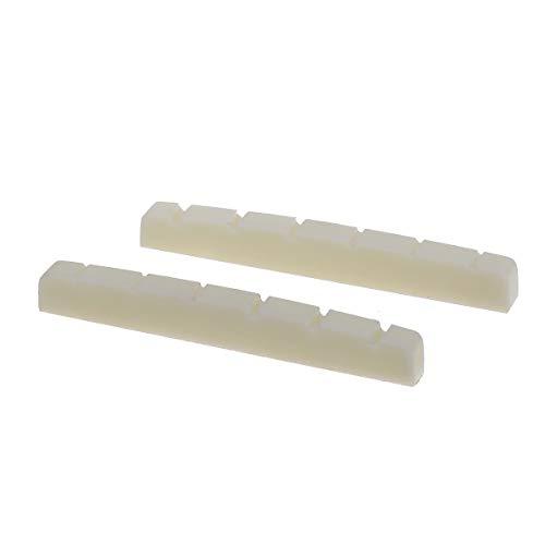 Musiclily Plástico de Resina Urea Ranurada 43mm Cejuela Superior Tipo Strato Tele...
