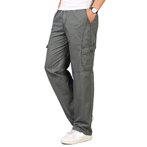 Capabes Pantalones para Hombre Cintura elástica Secado rápido Ligero Transpirable Pantalones cómodos Pantalones de Senderismo al Aire Libre, con Bolsillos 3XL