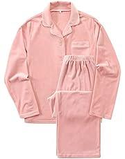 [Nutopia] 極上の肌触り ベロア パジャマ レディース 秋冬用 あったか なめらか ゆったり ルームウェア 上下 ストレッチ 吸湿保温 ピンク ネイビー 大きいサイズ