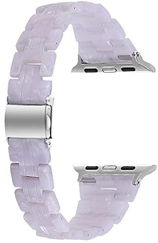 Miimall Compatible con Apple Watch 38 mm, 40 mm, 42 mm, 44 mm, correa de resina.