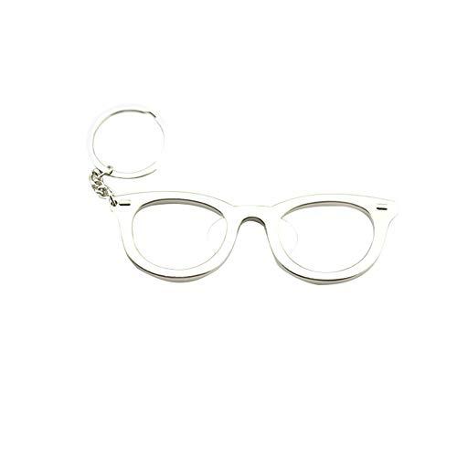 Fablcrew - Apribottiglie di birra a forma di occhiali, ciondolo apribottiglie con portachiavi, idea regalo per feste, compleanni, matrimoni