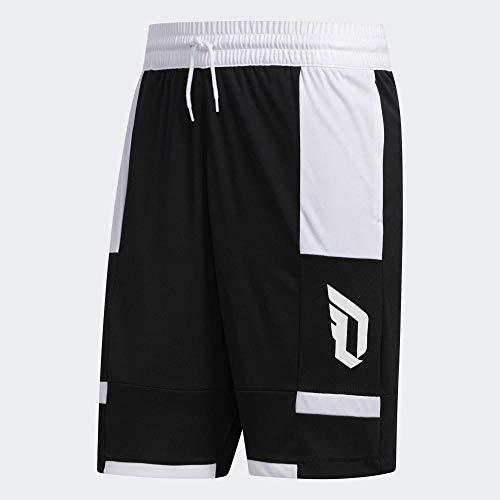 adidas Dame Short Pantalón Corto, Hombre, Negro, MT