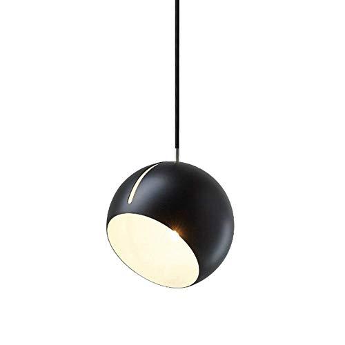 LYTZX Postmoderne Justierbare Hängende Leuchte, Geometrische Schräge Runde Kugel-Eisen-Dekoration-Decken-hängende Lampe, Für Schlafzimmer-Wohnzimmer-Esszimmer-Stab E27 Leuchter-Beleuchtung ZXC