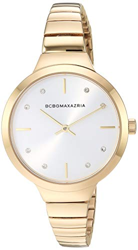 BCBGMAXAZRIA Women's Japanese-Quartz Watch with Stainless-Steel Strap, Gold, 7.7 (Model: BG50675003)