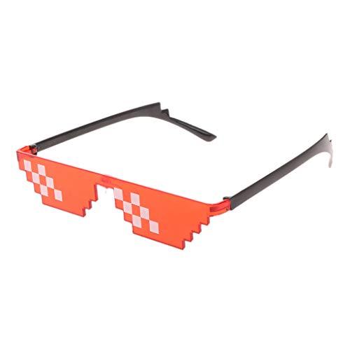 lijun Gafas de Sol Coloridas de Juguete, Gafas de Thug Life, Gafas de píxel para Mujeres y Hombres, Juguete Divertido