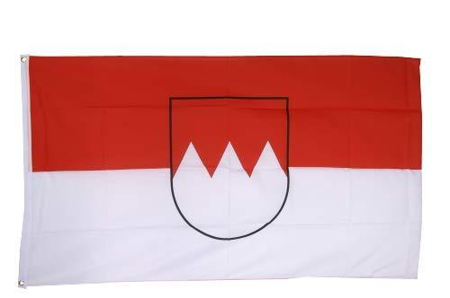 Flaggenfritze® Fahne Flagge Franken 90 x 150 cm Premiumqualität