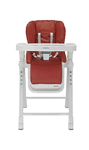 Inglesina Gusto HighChair - Fast and Easy Adjustable Baby High Chair for the Modern Family - Removable Tray Included {Red}