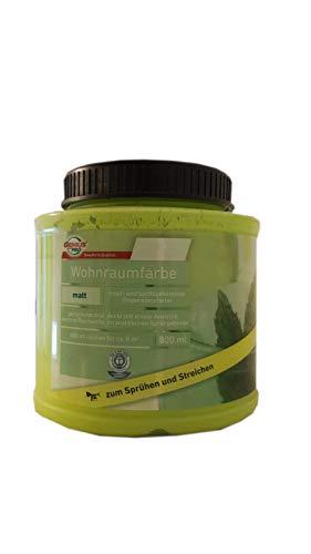 2x0,8 L Farbige Hochleistungs-Bunte Wandfarbe mit extrem hoher Ergiebigkeit Wohnraumfarbe matt 1,6 L innen Farbwahl, Farbe:Lemongrass