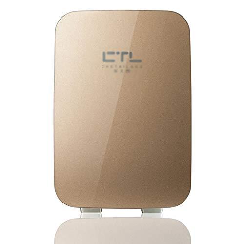 Refrigerador del Coche Mini Familiar Insulin Box 6L Adecuado para Acampar, Fiestas al Aire Libre Accesorios para Coche (Color : Gold, Size : Car Use)
