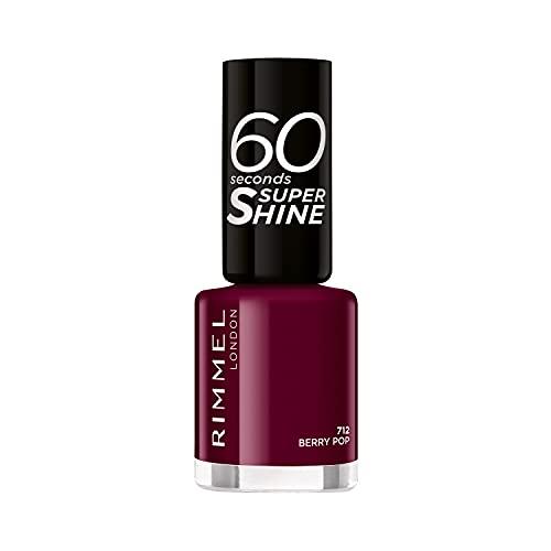 Rimmel - Vernis à Ongles 60 Seconds Super Shine Colour Block - Ultra Brillance et Longue Tenue - Séchage Rapide - 712 Berry Pop - 8ml