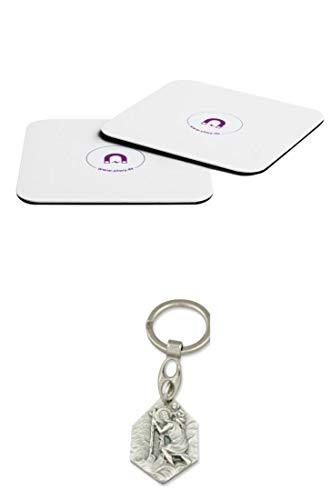Zisa-Kombi Magnetuntersetzer für Magnetgläser (932988929537) mit Anhänger Herz Jesu 2,5cm