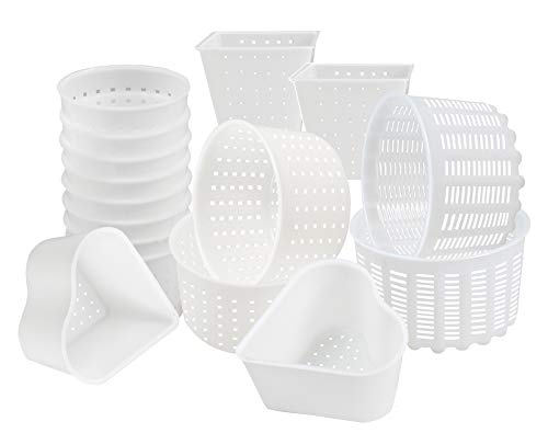16 pcs Cheesemaking Kit №3 Butter Punched Сheese Mold Press Strainer cheese Tofu Press Mold...