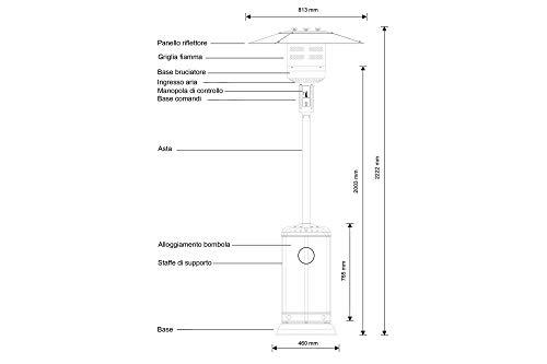 Stufa a Fungo a Gas - riscaldatore a infrarossi per Esterno - ST01FN