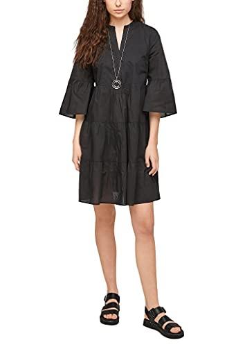 s.Oliver Damen Stufenkleid mit Tunika-Ausschnitt Black 32