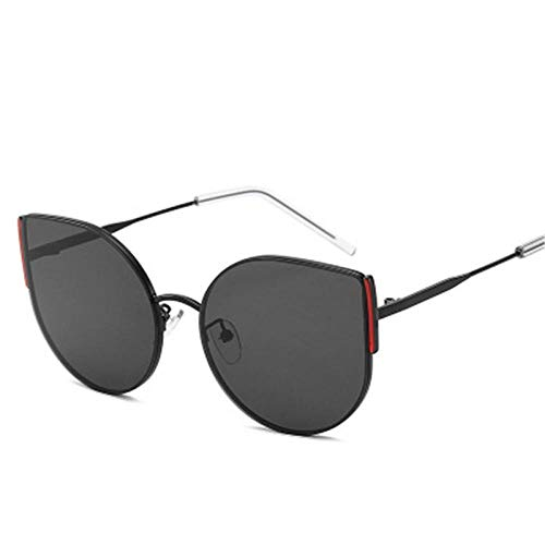 Sunglasses Gafas De Sol De Ojo De Gato De Aleación De Moda para Mujer, Diseñador De Marca Hombre, Gafas De Montura Metálica Roja, Gafas