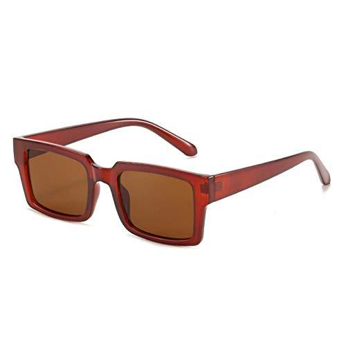 ZZOW Gafas De Sol Rectangulares De Moda para Mujer, Gafas De Sol Vintage con Diseño De Leopardo Rosa Y Púrpura para Hombre, Gafas De Sol Cuadradas De Tendencia, Sombras Uv400