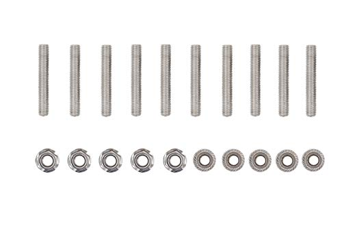 10 Pcs V10 Stainless Exhaust Manifold Studs Stud Nuts Bolt Kit for Ford 6.8...