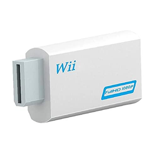 Adaptador De Salida De Audio De Video De Sraeriot Wii to Hd Converter Con Adaptador De Piezas De La Señal De La Señal De Audio De 3.5 Mm De 720p 1080p
