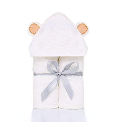 Toallas con capucha para bebé, de Mopoin, suaves toallas de baño para bebé, con capucha de 100% fibra de bambú orgánica, perfecta para recién nacidos, bebés, niñas y niños, 90 x 90 cm