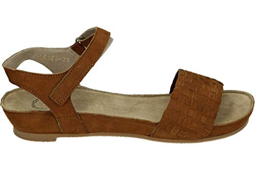 Ca'Shott 25050 Bio - Platte sandalenDames Sandalen - Kleur: Braun - Maat: 37
