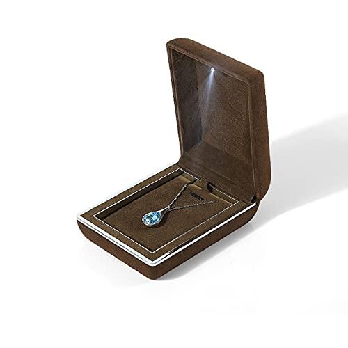 Caja de lujo de la suspensión del anillo del erudito de la elevación de la joyería de la alta calidad collar caja de regalo