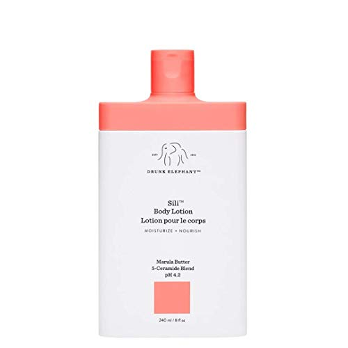 Drunk Elephant Sili Body Lotion. Hydrating and Restoring Cream Body Lotion. (8 fluid ounces)