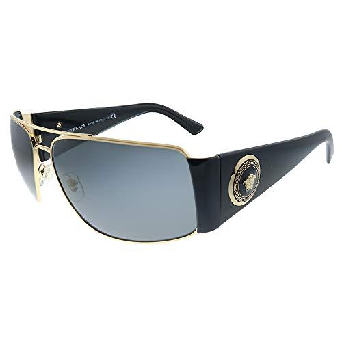Versace 0Ve2163, Gafas de Sol para Hombre, Marrón (Gold/Black/Grey), 63