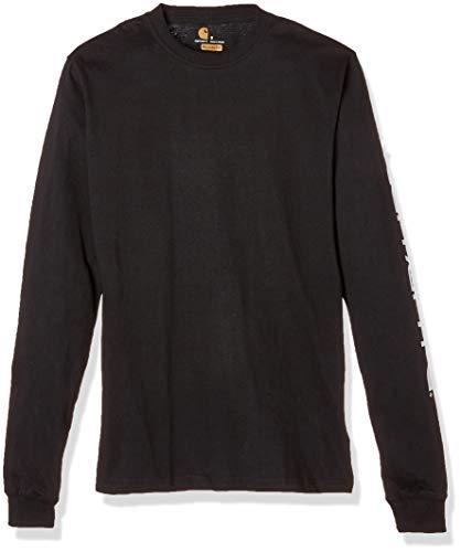 Carhartt Sweatshirt mit langen Ärmeln und Logo, M, Schwarz (EK231.BLK.S005)
