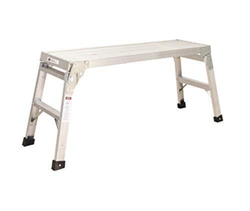HJHLDT LYX® Platform Ladder, Fold Horse Kruk Hand Frame Engineering Ladder Aluminium Auto Wassen Fotografische Ladder Kruk Mobiele Ascend Kruk Lager Gewicht 150kg