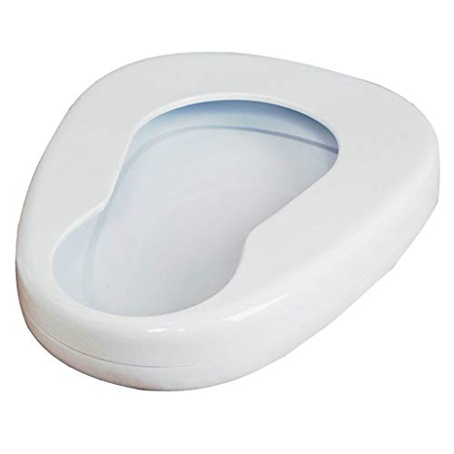 menolana Portable Bedpan Metal Contoured Bedpan Seat Urinal Bed Pan for Bedbound Patients Elderly Daily Incontinence Aids Device
