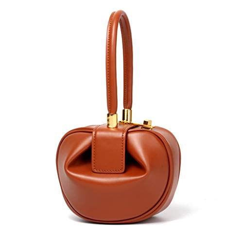 JERKKY handtassen voor dames van echt leer met clutch avondzakken voor dames schoudertas bruin S #