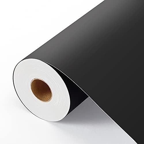SGHUO Matte Black Permanent Vinyl Roll 12' x 50 FT Adhesive Vinyl for Cricut,...