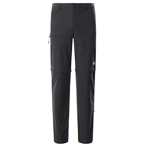 The North Face – Pantaloni Resolve da Uomo – Pantaloni Convertibili Ideali per Il Trekking, Due in Uno - Asphalt Grey, 34