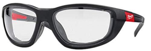Milwaukee Gafas protectoras transparentes de alto rendimiento, con almohadilla de espuma extraíble. ✅