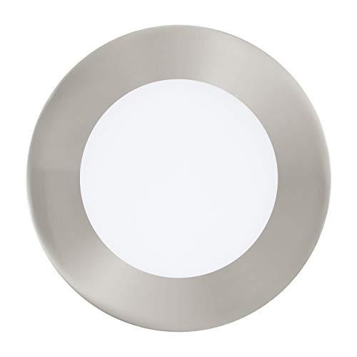 EGLO connect LED Einbauleuchte Fueva-C, Smart Home Einbaulampe, Material: Metallguss, Kunststoff, Farbe: Nickel matt, Ø: 12 cm, dimmbar, Weißtöne und Farben einstellbar