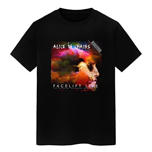 summerator Men's Graphic Tees - Allice in Chains T Shirts for Men Black Large