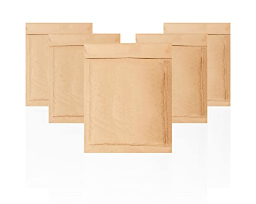 Amiff Natural Kraft Bubble Mailers 6.5x9 Brown Padded Envelopes 6.5 x 9. Pack of 10 Kraft Paper Cushion Envelopes. Exterior Size 7x9.5(7 x 9 1/2). Peel and Seal. Mailing, Shipping, Packing, Packaging