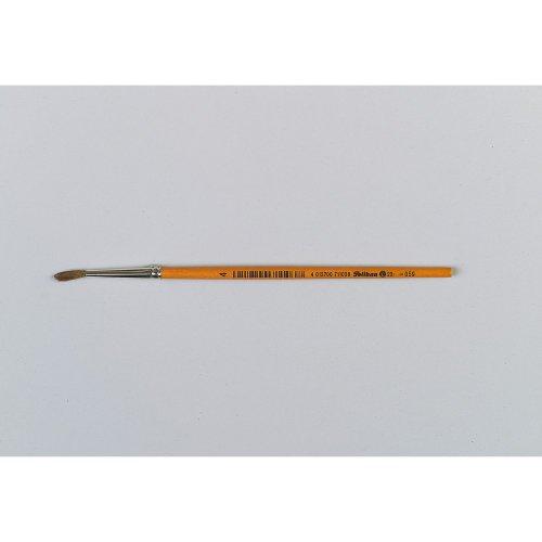 Pelikan 711036 pinceau d'artiste - Pinceaux d'artiste (Single brush, Brosse ronde, Crin de poney, Bois, Orange, Brosse ronde)