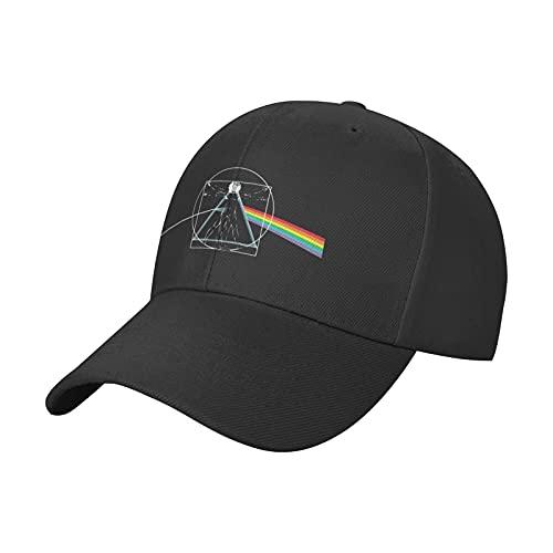 Pink Floyd The Dark Side of The Moon Baseball-Kappe, Unisex, Casquette Sonnenhut, Schwarz , One size
