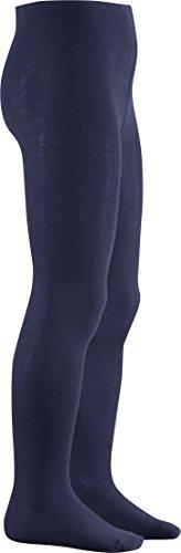 Playshoes Unisex Kinder Thermo-Strumpfhosen, warme Baumwoll-Strumpfhosen mit Komfortbund, blau (marine 11), 122/128