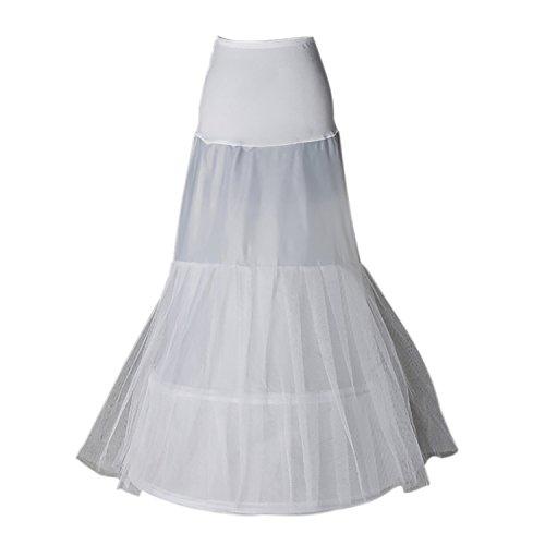Enagua miriñaque blanca de cóctel sirena para novia guardainfante de novia enagua...