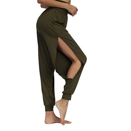 Frauen Hosen Weites Bein Lose Hohe Taille Antibakterielle Hautfreundlich Bequem Und Leicht Dance Fitness Kleidung Pluderhosen